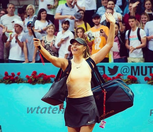 Мария Шарапова радуется любым успехам