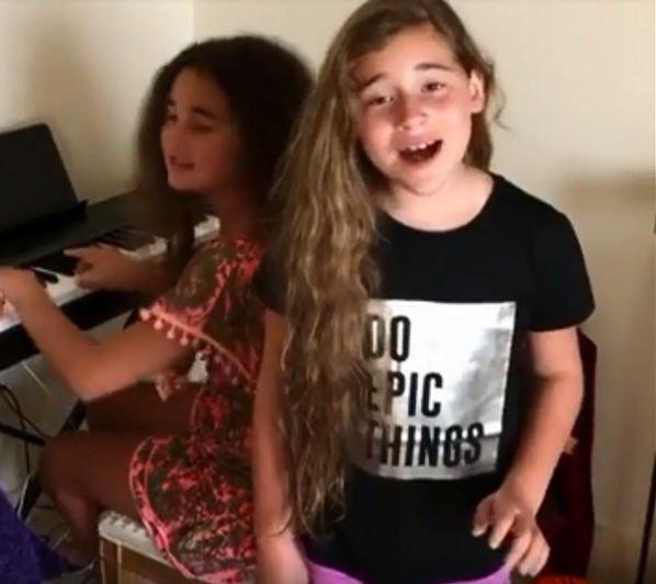 Младшая дочь Алсу продемонстрировала свой талант