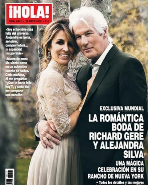 Обложку журнала украсил свадебный снимок Ричарда Гира и его молодой жены