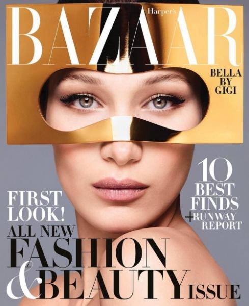 Белла Хадид в Harper's Bazaar о критике серьезного лица
