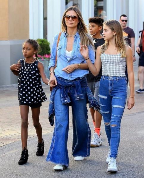Хайди Клум раскритиковали за неправильное воспитание дочерей