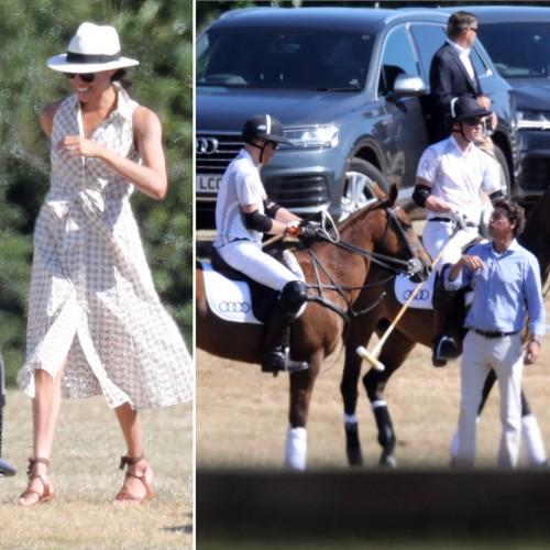Меган Маркл и принц Гарри на матче по конному поло в день рождения принцессы Дианы