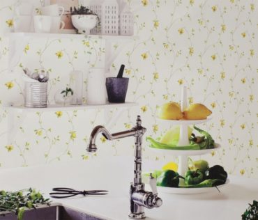 Non-woven backing vinyl Wallpaper for kitchens of different styles