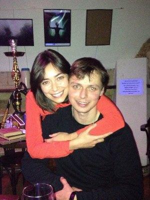 Victor Komarov, wife