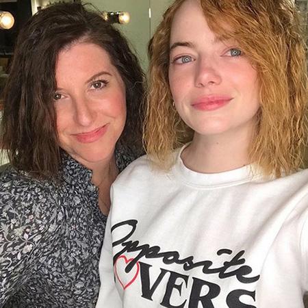 Эмма Стоун сделала легкую химию на волосах