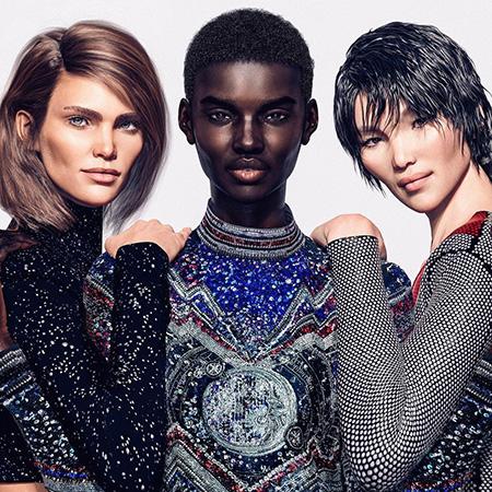Balmain променял Кендалл Дженнер и Джиджи Хадид на цифровых моделей