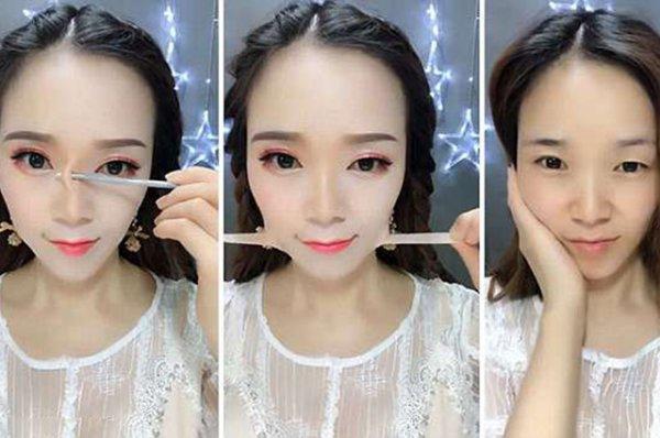 Накладной нос, скотч, тонны косметики: как китайские бьюти-блогеры обманывают всех