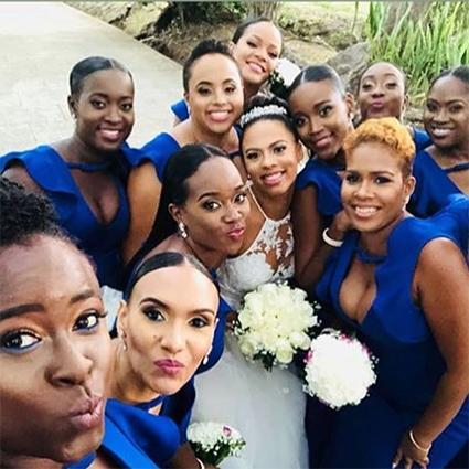 Рианна побывала на свадьбе лучшей подруге