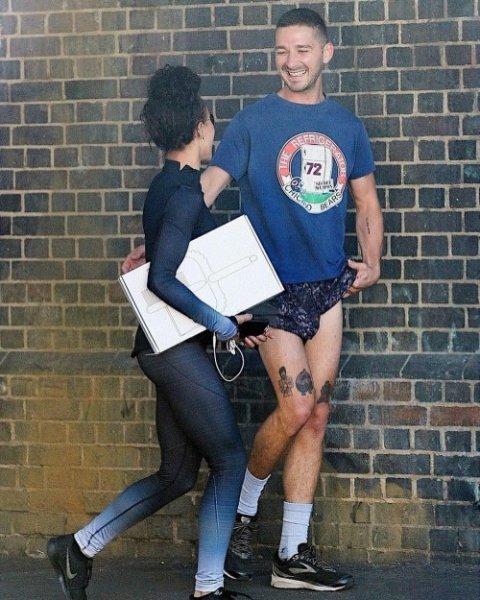 Шайа ЛаБаф бегает с возлюбленной FKA twigs после расставания с Мией Гот