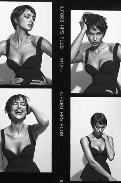 Ирина Шейк примерила неожиданный образ с короткой стрижкой в фотосессии