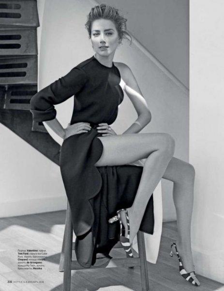 Эмбер Хёрд снялась в стильной фотосессии для декабрьского InStlye