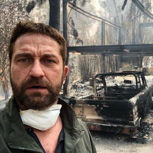 Дом и машина Джерарда Батлера сгорели дотла
