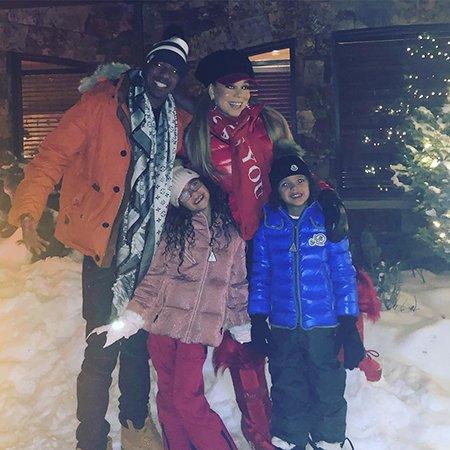 Мэрайя Кэри встретила Рождество с двумя возлюбленными