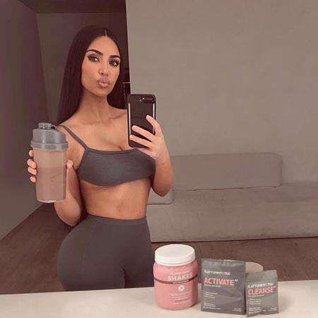 Ким Кардашьян раскритиковали за рекламу заменителей пищи