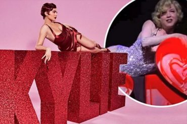 "Kylie Jenner in the image of Roxie HART from ""Chicago"" presented a beauty collection Valentine"