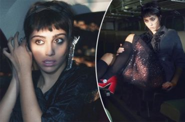 Wanderer in the night: Madonna's daughter Lourdes Leon has been the face of campaigns for Miu Miu