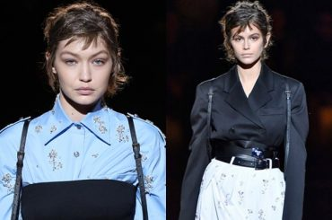 Gigi Hadid and Kaia Gerber took part in the men's fashion Week in Milan