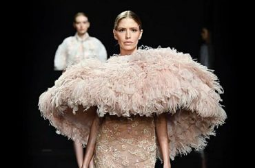 Elena Perminova became the star of the show at the fashion Week in Paris