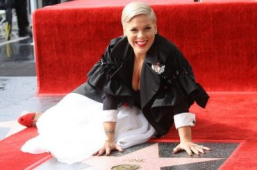 Pink received a star on the walk of fame in Hollywood