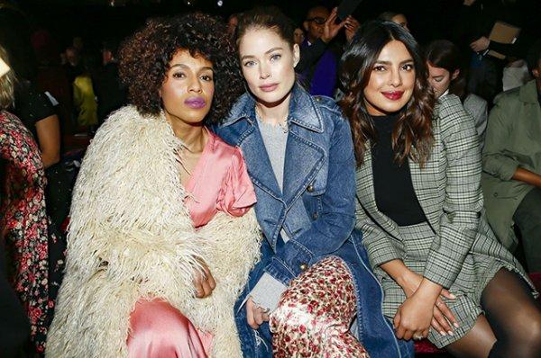 Неделя моды в Нью-Йорке: Кэтрин Зета-Джонс, Кейт Хадсон, сестры Хадид на показе Michael Kors сезона осень-зима 2019/2020