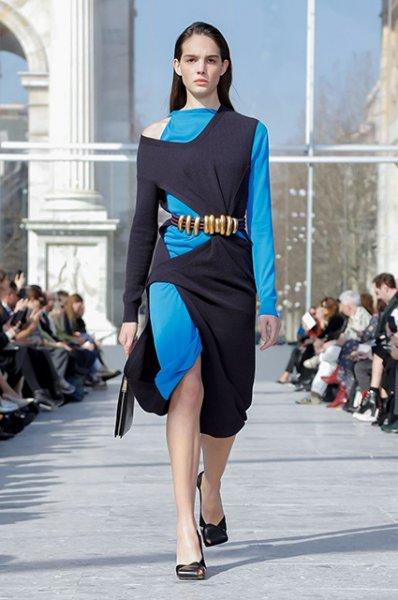Неделя моды в Милане: Сальма Хайек на показе Bottega Veneta сезона осень-зима 2019/2020
