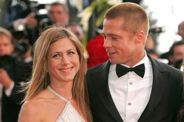 Remained friends: brad pitt came to the party to Jennifer aniston