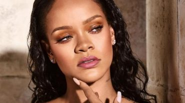 Rihanna was dressed in a provocative outfit for the sake of advertising their new lipstick