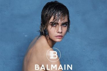 Girl and the sea: Nude Cara Delevingne starred in the new video for Balmain