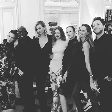 Белла и Джиджи Хадид, Наоми Кэмпбелл и другие на вечеринке редактора британского Vogue