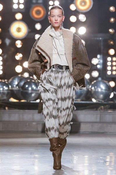 Неделя моды в Париже: Джиджи Хадид и Кайя Гербер на показе Isabel Marant осень-зима 2019/2020
