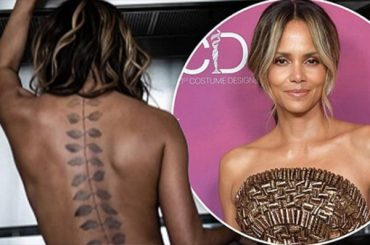 Halle berry has a tattoo on his back