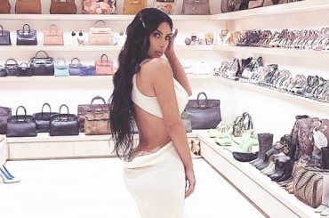 Kim Kardashian has surprised her dressing room the size of a boutique