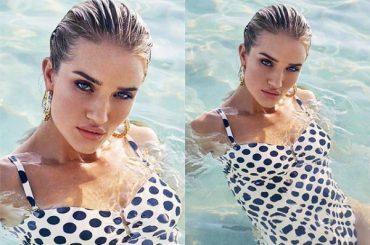 Swim fashionable: Rosie Huntington-Whiteley has unveiled a new swimwear collection