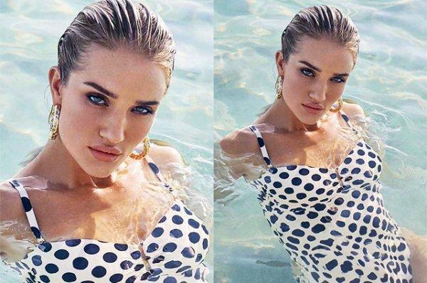 Модный заплыв: Рози Хантингтон-Уайтли представила новую коллекцию купальников