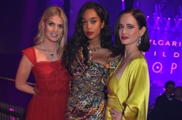 Eva green and kitty Spencer at the party jewelry brand in London