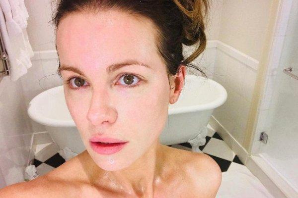 Кейт Бекинсейл обновила блог селфи без капли макияжа и фотошопа