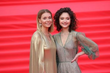 "Lyubov Tolkalina with her daughter at the opening of ""MIFF-2019"""