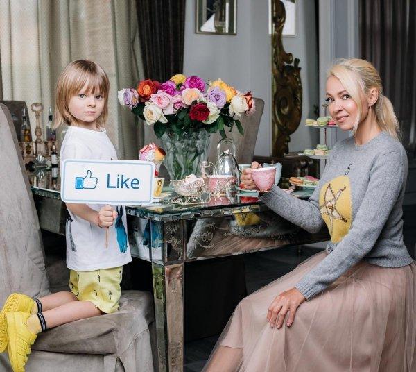 Яна Рудковская пожалела 6-летнего сына Сашу