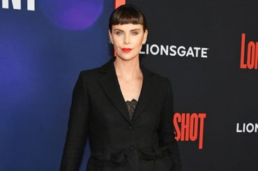 "Bangs — Yes! Charlize Theron with a new hairstyle at the premiere of ""the two"" in new York"