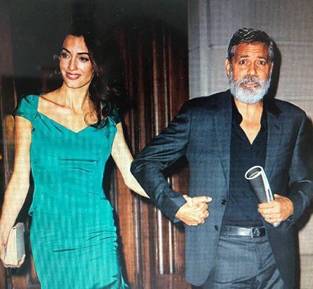 Джорж Клуни и Амаль продолжают свои романтические прогулки по Нью-Йорку