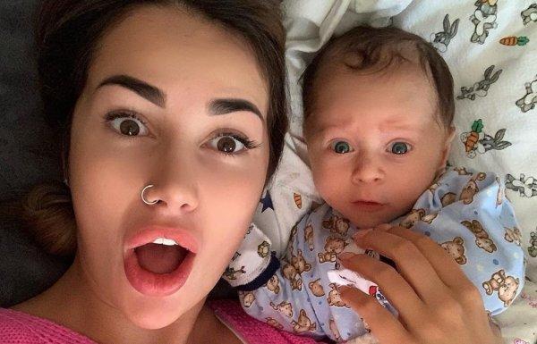 Саша Кабаева устроила фотосессию новорождённому сыну и отметила его день рождения
