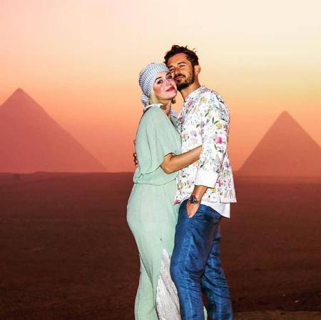 Кэти Перри и Орландо Блум отметили День рождения певицы в Египте