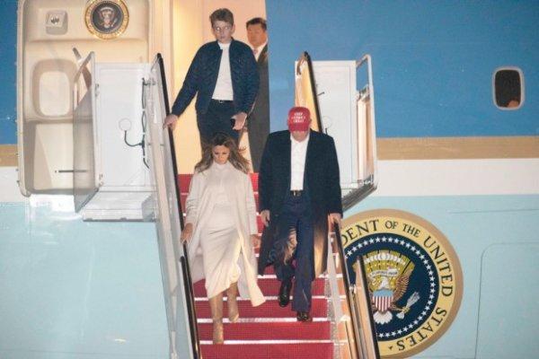 Бэррон Трамп в 13 лет выше своих родителей