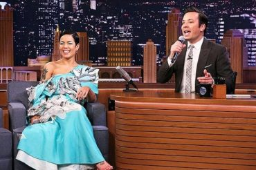 The singer Halsey sang songs with comic inserts on the show with Jimmy Fallon