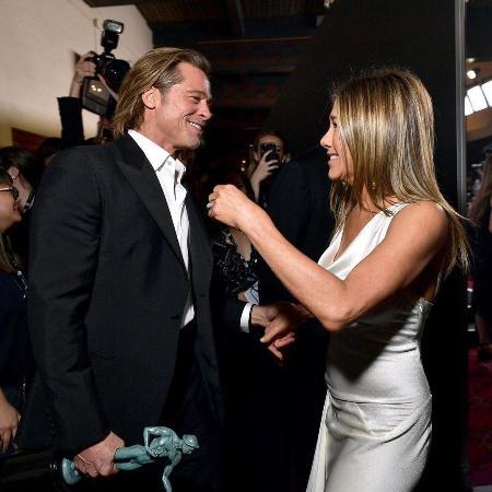 Дженнифер Энистон прокомментировала реакцию Брэда Питта на премии Гильдии киноактеров США