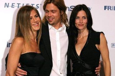 Jennifer aniston and brad pitt regained the friendship after the divorce thanks to Courtney Cox
